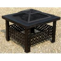 XY-FP-16015-S 26'' Square Firepit Outdoor Firepit With Cooking Grid