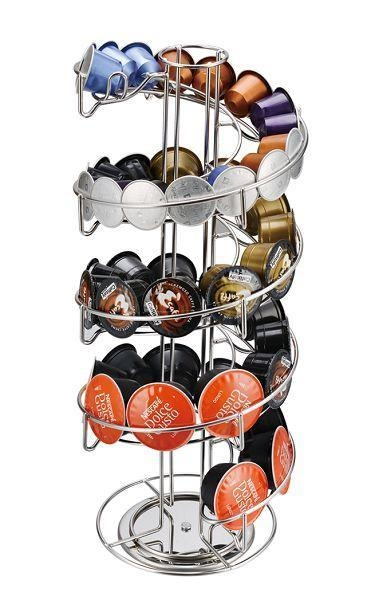 Stainless Steel Coffee Capsule Holder Can Hold 40PCS