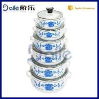 6PCS Vitreous Enamel Pot