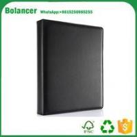 Buy cheap Black A4 Leather Journal 4 Ring Binders Business Spiral Diary Notebook from wholesalers