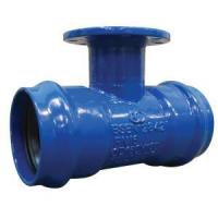 Buy cheap Ductile Iron Flanged branch Double socket Tee from wholesalers
