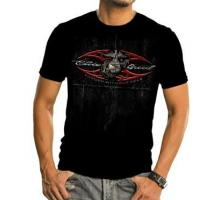Elite Breed US Marine Forged Without Fear Foil Print Black T-shirt