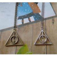 China Gucci Harry Potter Luna And The Deathly Hallows Triangle Pendant Necklace Sweater Chain on sale