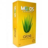 Quality Ribbed Condoms Moods Aloe (pack of 12) for sale