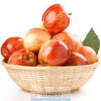 Quality Fresh Apple Round Gift Basket (3kg+) for sale