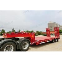 Quality 3 axles tires covered low-bed semi trailer(13m) for sale