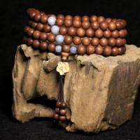 Quality Papua sandalwood 8mm108 teeth Wooden Rosary bracelets high oil tight for sale
