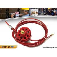 China Safety Lock Out With Padlocks ABS Red Wheel Type Cable Lockout 2 / 5 / 10M Cable on sale