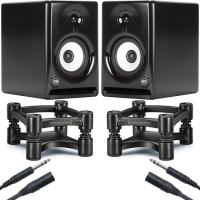 Quality Recording RCF AYRA 5 Monitors with IsoAcoustics Stands Studio Bundle (Pair) for sale