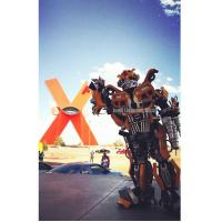 Quality Popular Robot Costume For Events From Mexico client Transformers Bumblebee feedback for sale