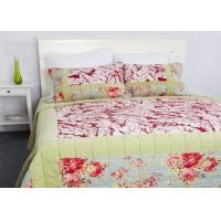 Geometric Quilted Patchwork Bedspreads 3 Pcs Cotton Velvet Embroidered