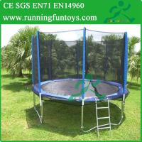 Quality Large Single Bungee Jumping Trampoline With Enclosure For Sale for sale