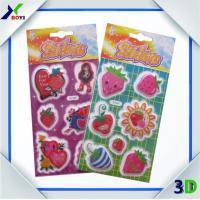 Quality Waterproof adhesive 3d Strawberry Sticker Label for sale