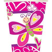 Quality BUTTERFLIES - 8 PCS 10 OZ. CUPS for sale