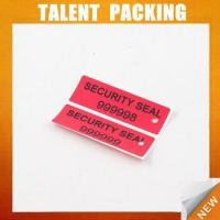 Buy cheap RED Color void tamper evident security label from wholesalers