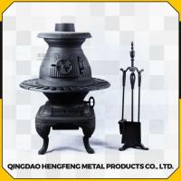 China Long Time Burning High Efficient Smokeless Square Cast Iron Stove on sale