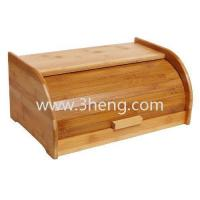 Quality Exquisite Bamboo Sliding Lid Rolltop Bread Box / Storage Bin for sale
