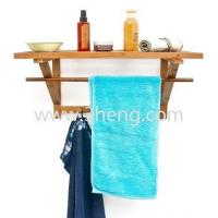 Quality Eco-friendly Modern Bamboo Wall Coat Rack With 4 Hooks for sale