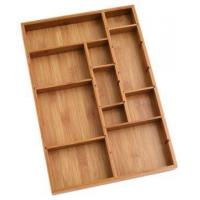 Quality Durable Bamboo Tray Drawer Organizer For Utensils Cutlery for sale