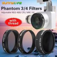 Buy cheap UV/ CPL/ ND2-400 Filter Adjustable ND Filter Lens with Thread for DJI Phantom 3/4 from wholesalers