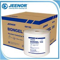 Quality X50 Standard cleaning wipes bulk shop rags non woven wiping cloth jumbo roll for sale