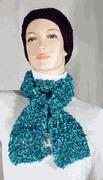 Green and Blue Lacey Scarf