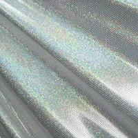 Holographic foil on spandex