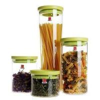 Buy cheap Stackable Borosilicate Glass Food Storage Containers with Plastic Lid from Wholesalers
