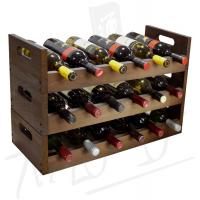 Wine rack WRS12 brown
