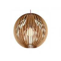 Buy cheap Lightingbird Beautiful Decorative Wooden Pendant Light with Coral Shade from wholesalers
