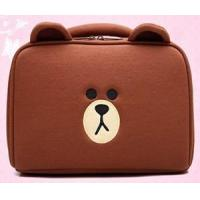 Buy cheap Promotional Bear cosmetic bag on line with big volume more functions soft bag from wholesalers