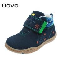 China UOVO Soft Sole Little Kids Shoes Cow Suede Children Shoes Autumn Toddler Girls Boys on sale