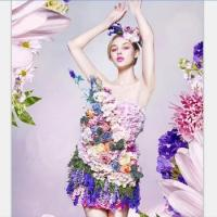 women carnaval adult costume Halloween photographic studio wedding Flower Fairy dress