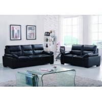Quality Leather sofas Classical black leather sofa with adjustable headrest for sale