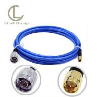 Blue jacket RG142 pigtail cable assembly N male to SMA male connectorx