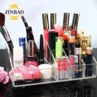 Quality JINBAO Acrylic plastic drawer makeup organizer 6 drawer 9 drawer storage box for sale