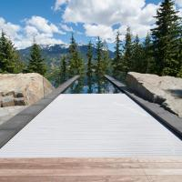 Top quality Polycarbonate material pool cover with remote controller