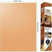 Factory price As seen on TV 13*15.75 inches nonstick heavy duty Copper Grill BBQ mat