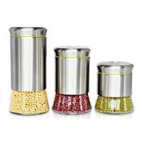 Quality Kitchenware Stainless steel and glass storage jars for sale