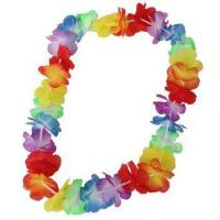 Wholesale Cheap All Occasion Decoration Silk Hawaiian Flower Lei Garland