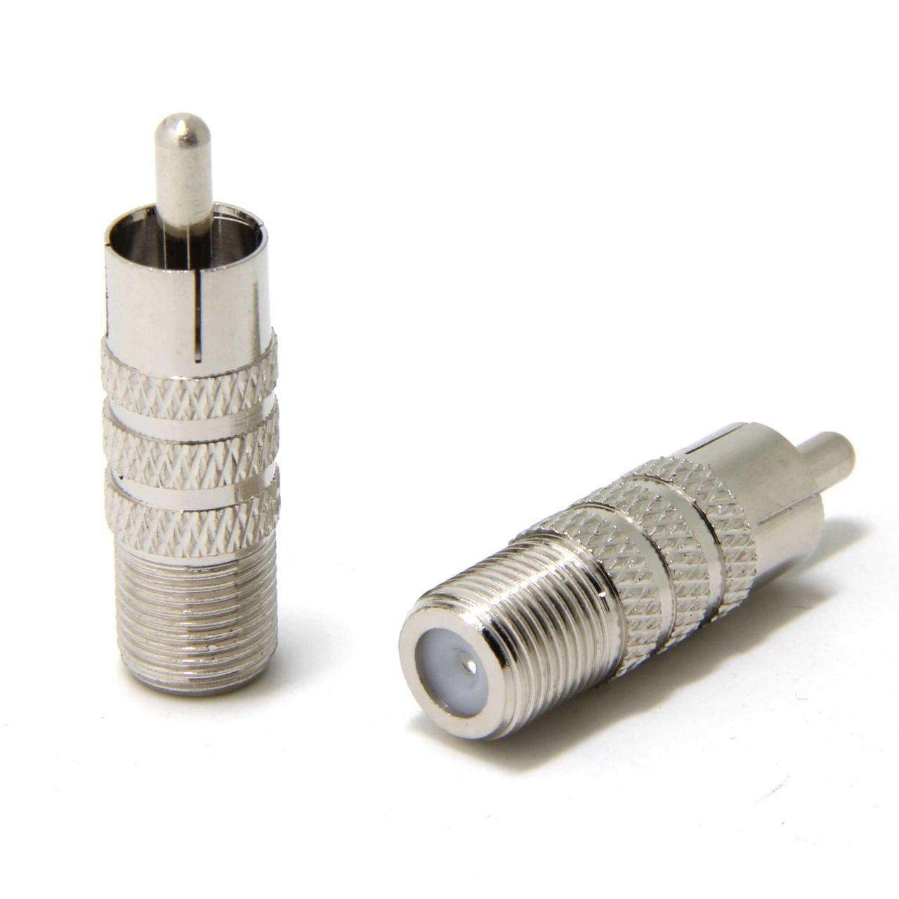 Quality connector wuernine F Female To RCA Male Connector Adapter for sale