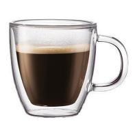 Glass Drinkware Type and Stocked Feature Double Walled Glass Espresso Cup