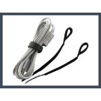 Quality Hook and Loop cable tie q type hook and loop cable tie,black for sale