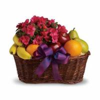 Quality Blooms and Fruit Gift Basket for sale