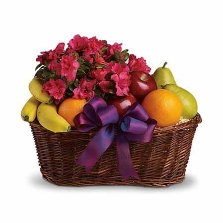 Buy Blooms and Fruit Gift Basket at wholesale prices