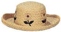 China 1236 - Packable Ladies' Raffia Straw Hat on sale