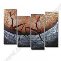 China 4pcs 100% hand draw abstract modern oil painting on canvas figure AB118 on sale
