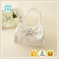 Quality Best price Cute Little Girls pink and beige bags Colorful Bowknot PU good quality Kids Handbags for sale