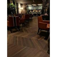 Quality Chevron Parquet Flooring Oak Smoked Brushed White Wash for sale