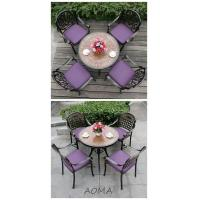 Buy cheap cast alu.chair and table cast aluminum 5 piece patio set from wholesalers